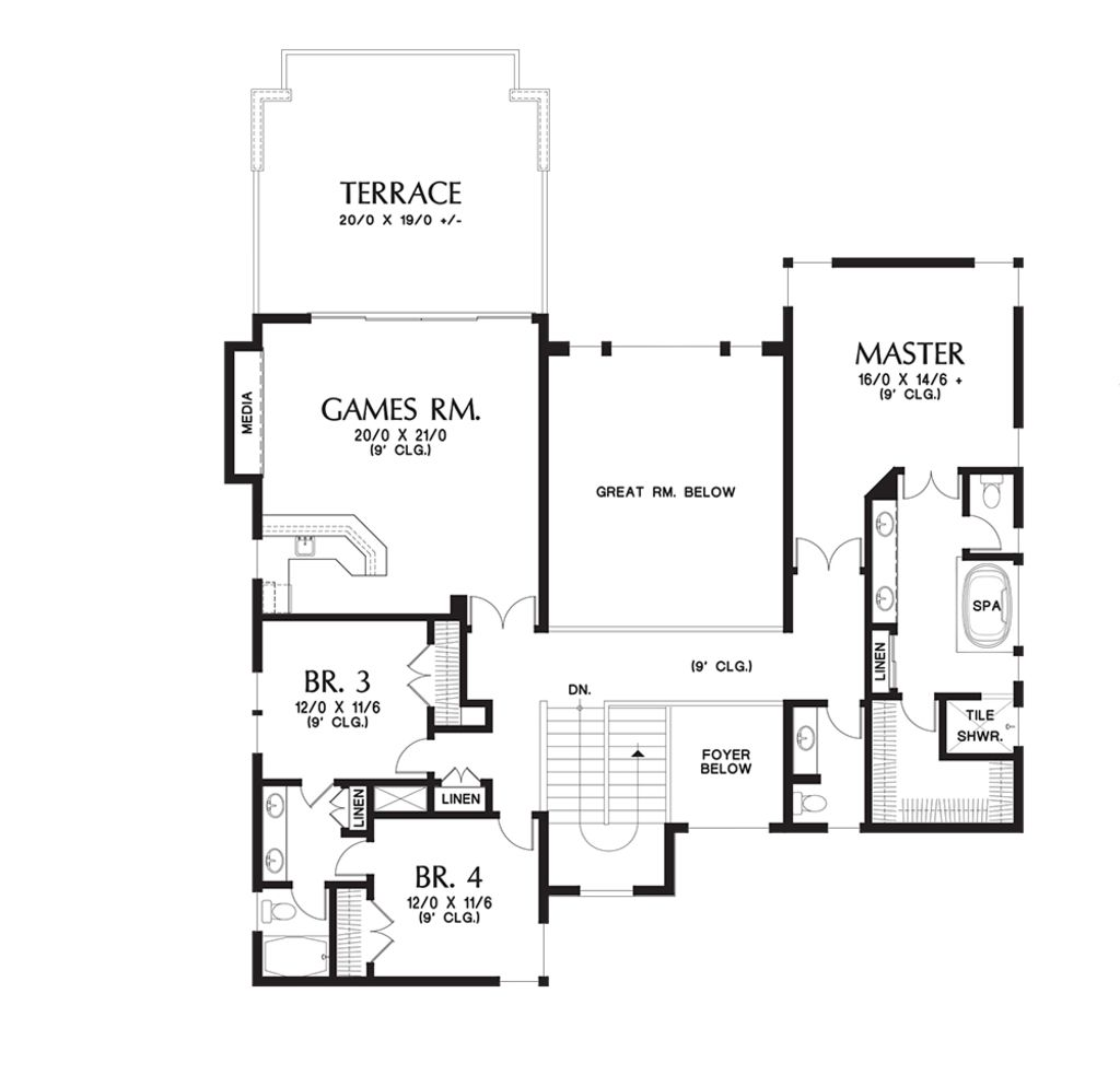 Contemporary Style House Plan 4 Beds 4 5 Baths 4106 Sq Ft Plan 48 651 Contemporary House Plans House Plans Contemporary Style Homes