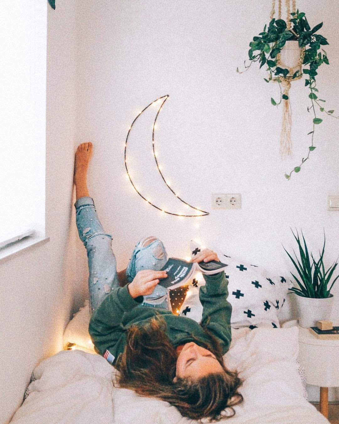 Urban Outfitters Inspired Moon Remake Aesthetic Minimalistic Bedroom Minimalist Bedroom Design Minimalist Bedroom Aesthetic Room Decor