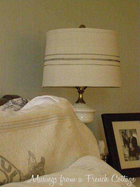 Diy Quot French Linen Quot Lampshade Slipcover Make Your Own