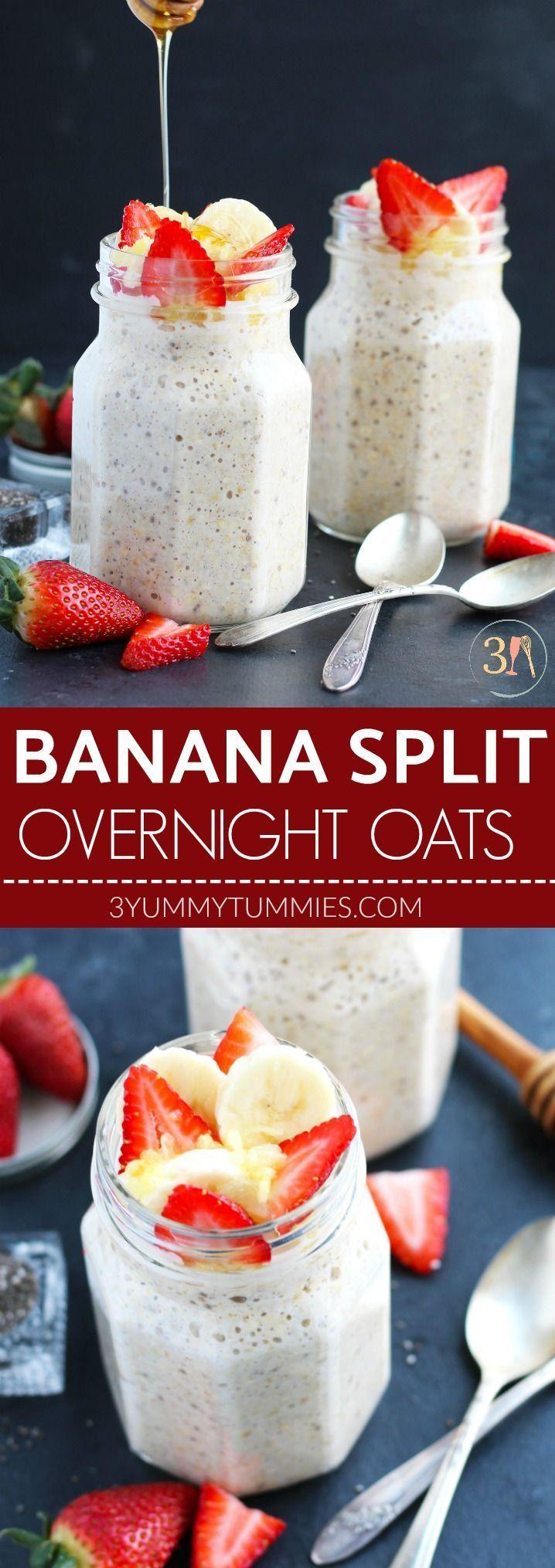 Banana Split Overnight Oats Banana Split Overnight Oats 3 Yummy Tummies 3yummytummies Recipes by 3 Yummy Tummies These Banana Split Overnight Oats are a nbsp hellip break...
