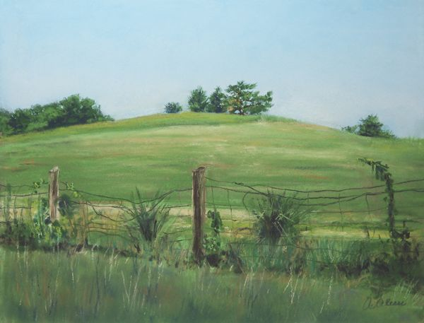 """""""Kuerner Hill"""", Pastel, 9"""" x 12"""" - Original Available"""