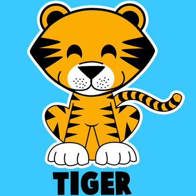Animals Arts and Crafts for Kids Tiger Tribe Learn How to Draw