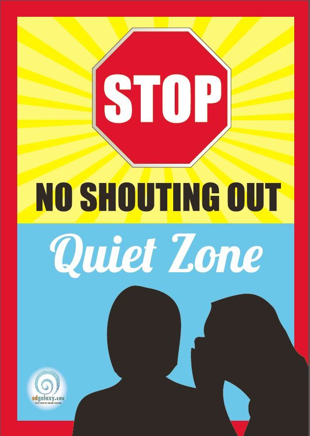 Modern Classroom Posters ~ No shouting classroom poster management