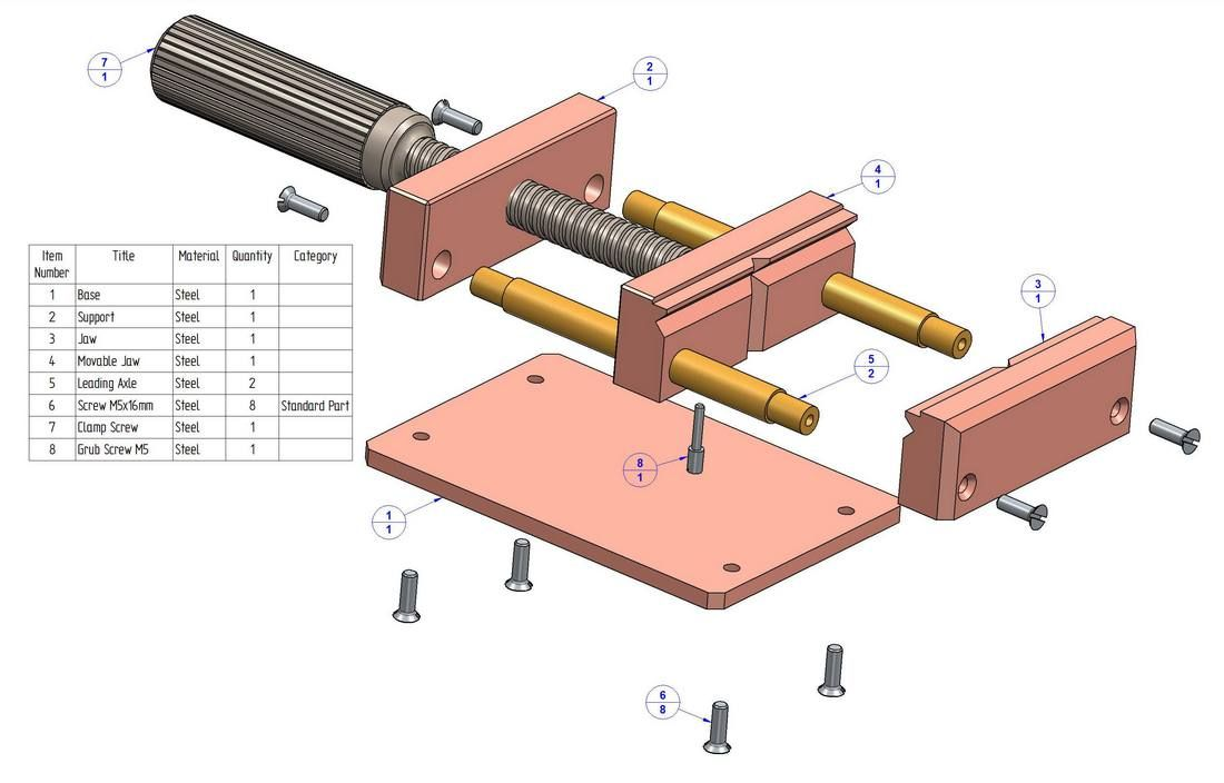 Drill press vise plan - Parts list | woodtools | Pinterest ...