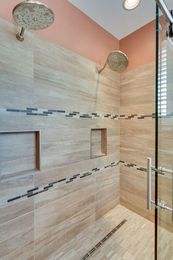 Shower and inlay. | Bathroom Tilework | Pinterest | Home, Wouldn\'t ...