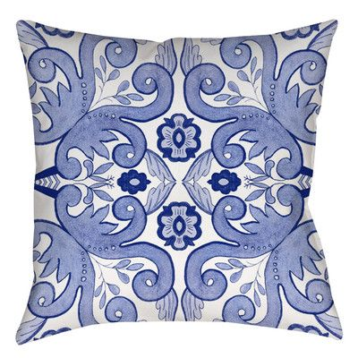 """Manual Woodworkers & Weavers Chinoiserie Swatch 4 Indoor/Outdoor Throw Pillow Size: 18"""" H x 18"""" W x 5"""" D"""