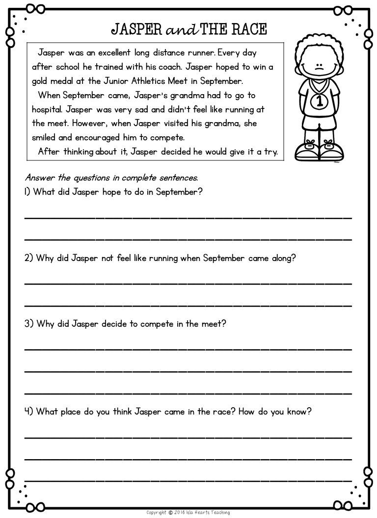 hight resolution of Second Grade Reading Comprehension Passages and Questions (FREE SAMPLE)   2nd  grade reading passages