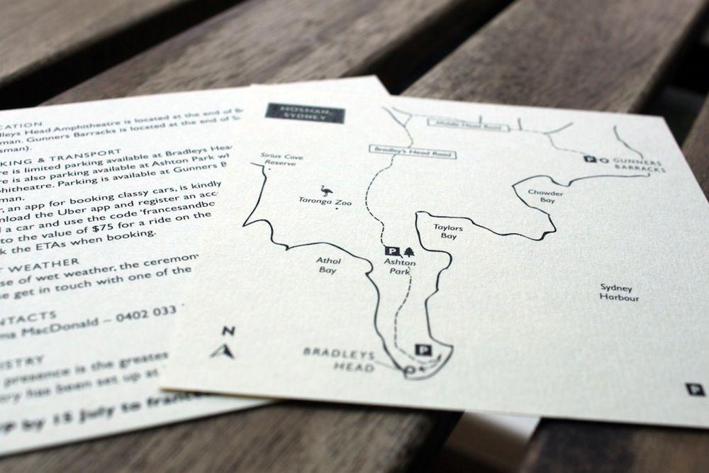 SAMPLES // Wedding Information Cards, Menus, Maps (digital