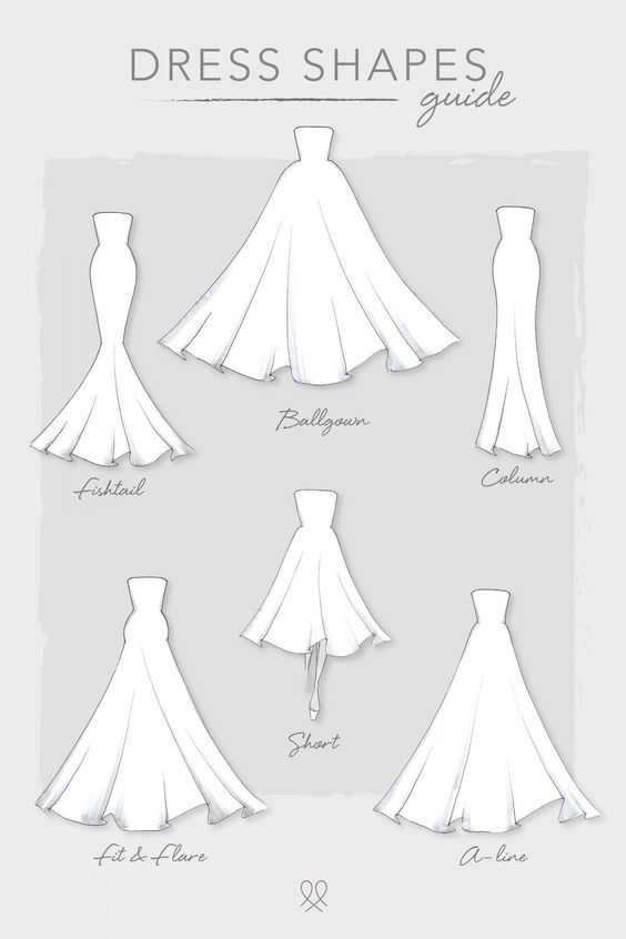 Dress Shapes -   14 dress Wedding drawing ideas
