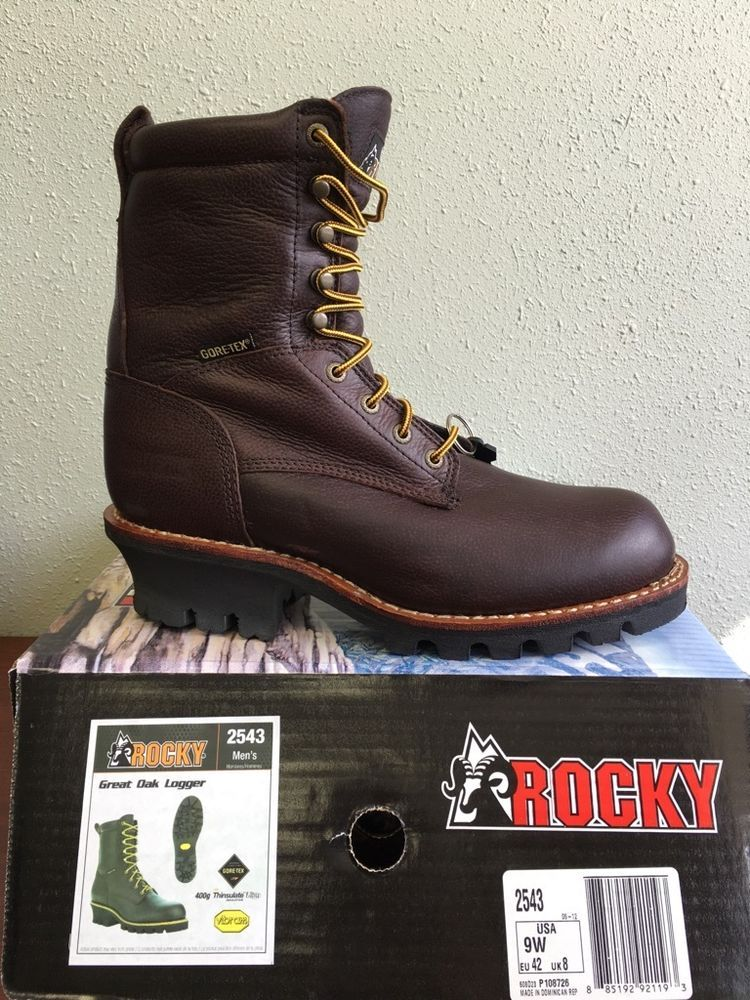 29ac728aff3 Rocky Great Oak Logger 2543 Mens Gore-Tex Waterproof Insulated 9 ...