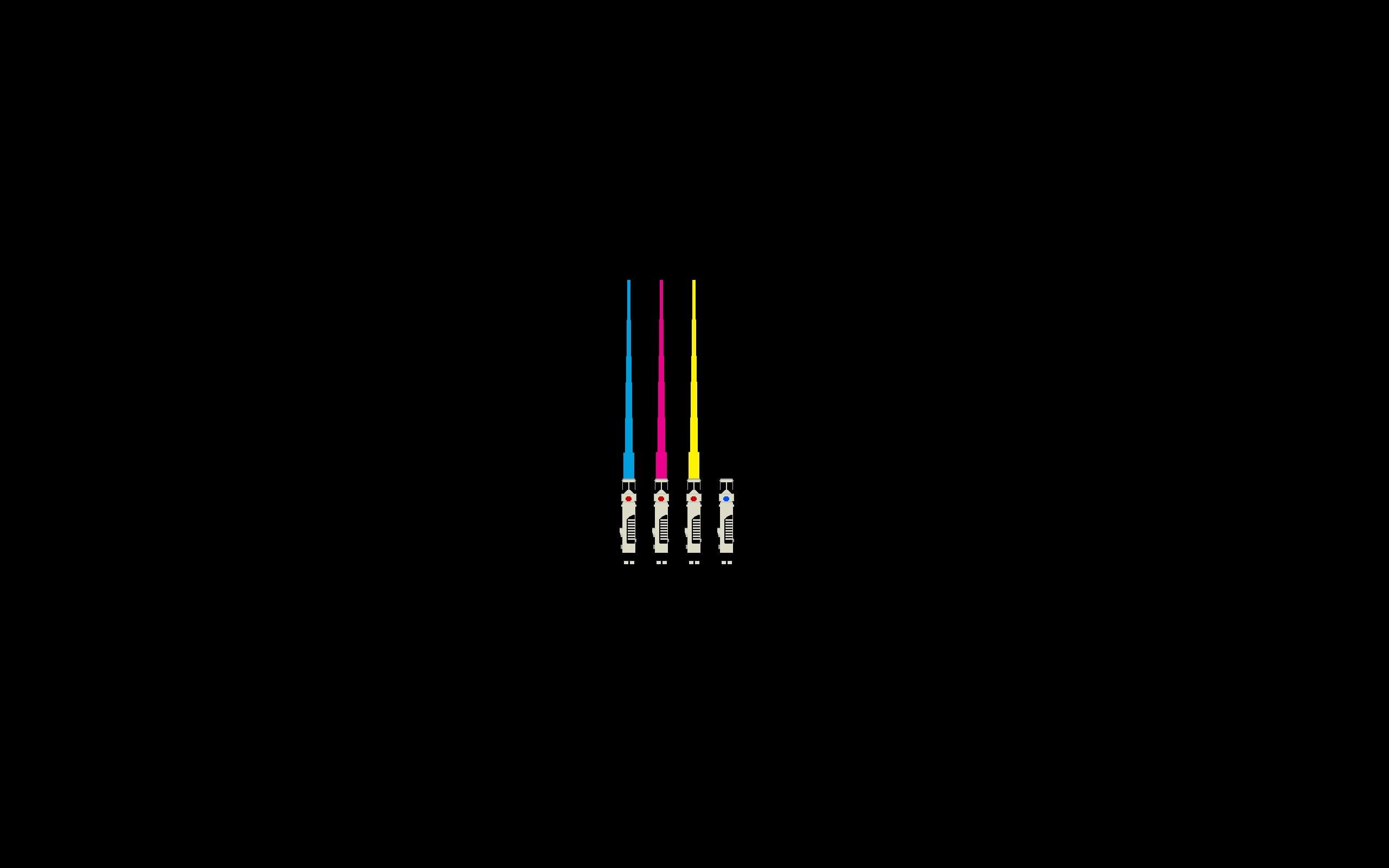 Star Wars Lightsaber Cmyk Minimalism 2k Wallpaper Hdwallpaper Desktop Minimalist Wallpaper Disney Minimalist Lightsaber