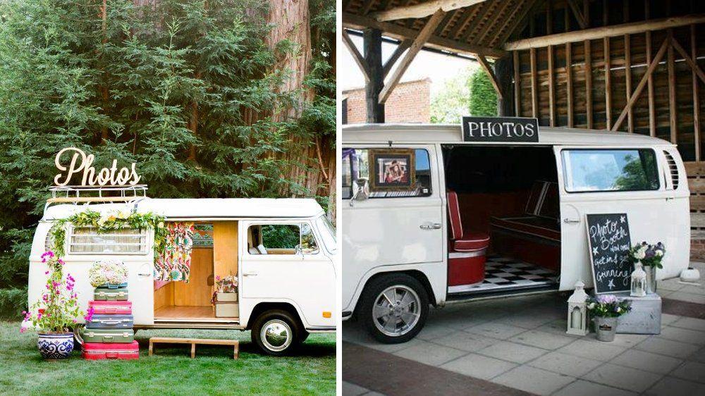 combi photomaton mariage vintage
