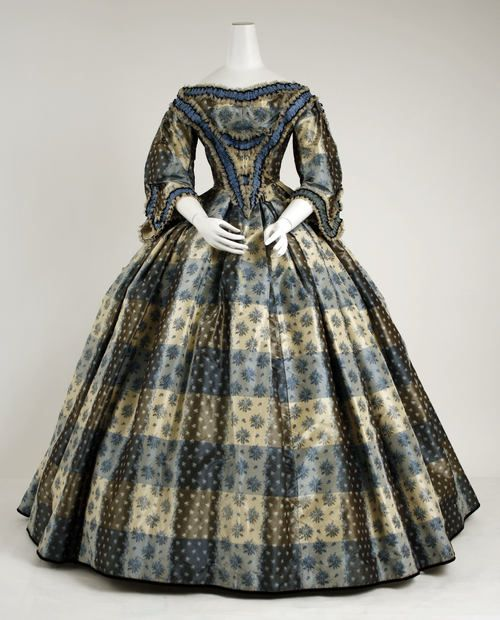 Dinner dress 1855. I think Marmie would have worn this....