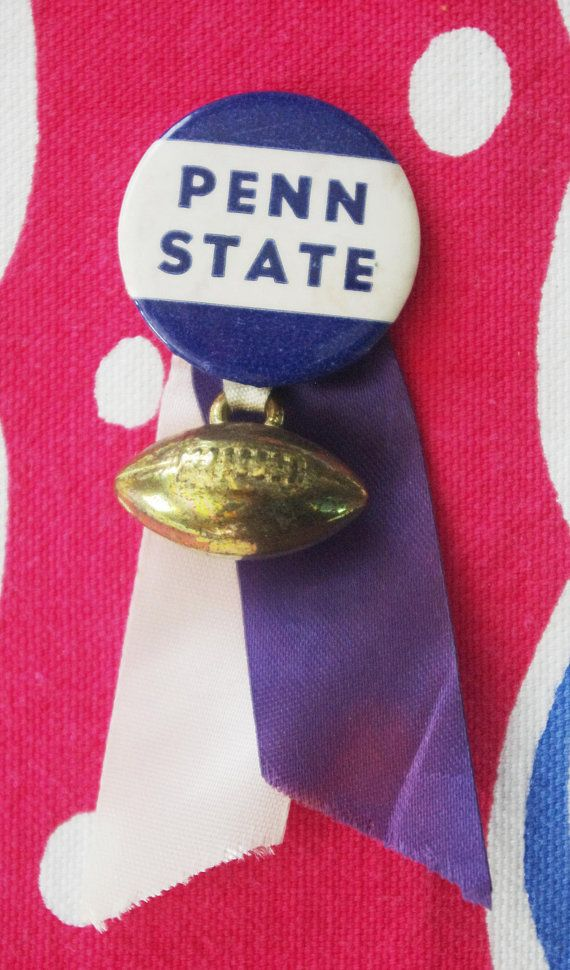 Vintage 1950s Football Pin with Ribbon Streamers: Penn ...