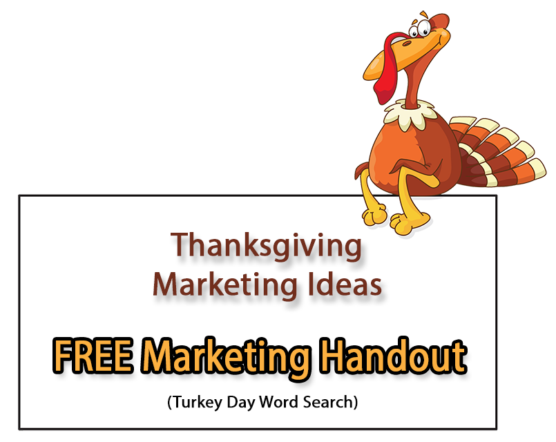 Thanksgiving Marketing Ideas - FREE Thanksgiving Word Search Handout ...
