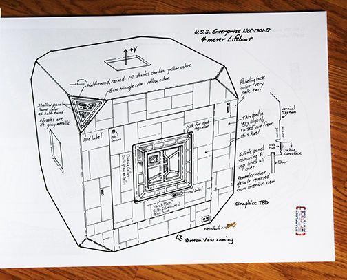 Star Trek Tng EnterpriseD Meter Lifeboat Design Document  Star