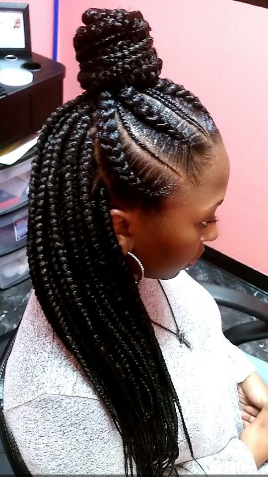 Peinados de trenzas modernas para negras