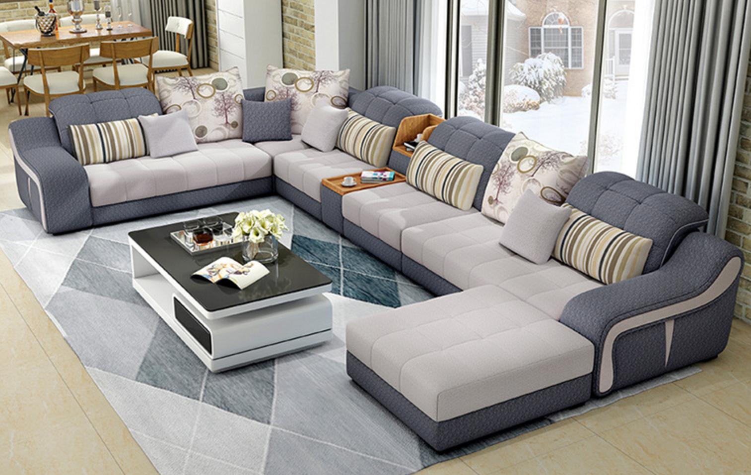 Luxury Modern U Shaped Leather Sectional Sofa Set   Luxury ...