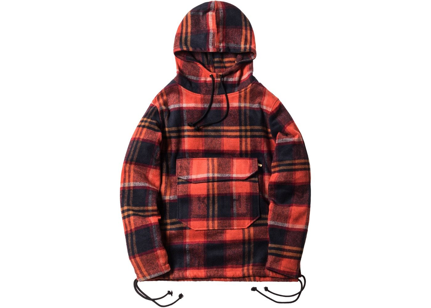 b4b5a83b Kith Harrison Plaid Flannel Hoodie Orange/Red | Apparel in 2019 ...