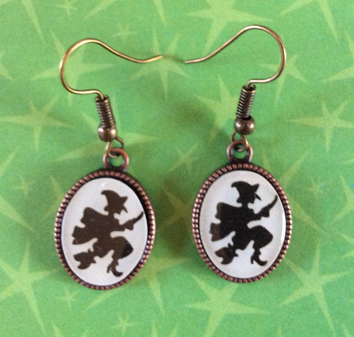 76d9c74e2 Witch earrings. Striped knee high socks. Witch shoe earrings. Witches hat  earrings. Witch socks. Witch shoe earrings. Wicked witch socks