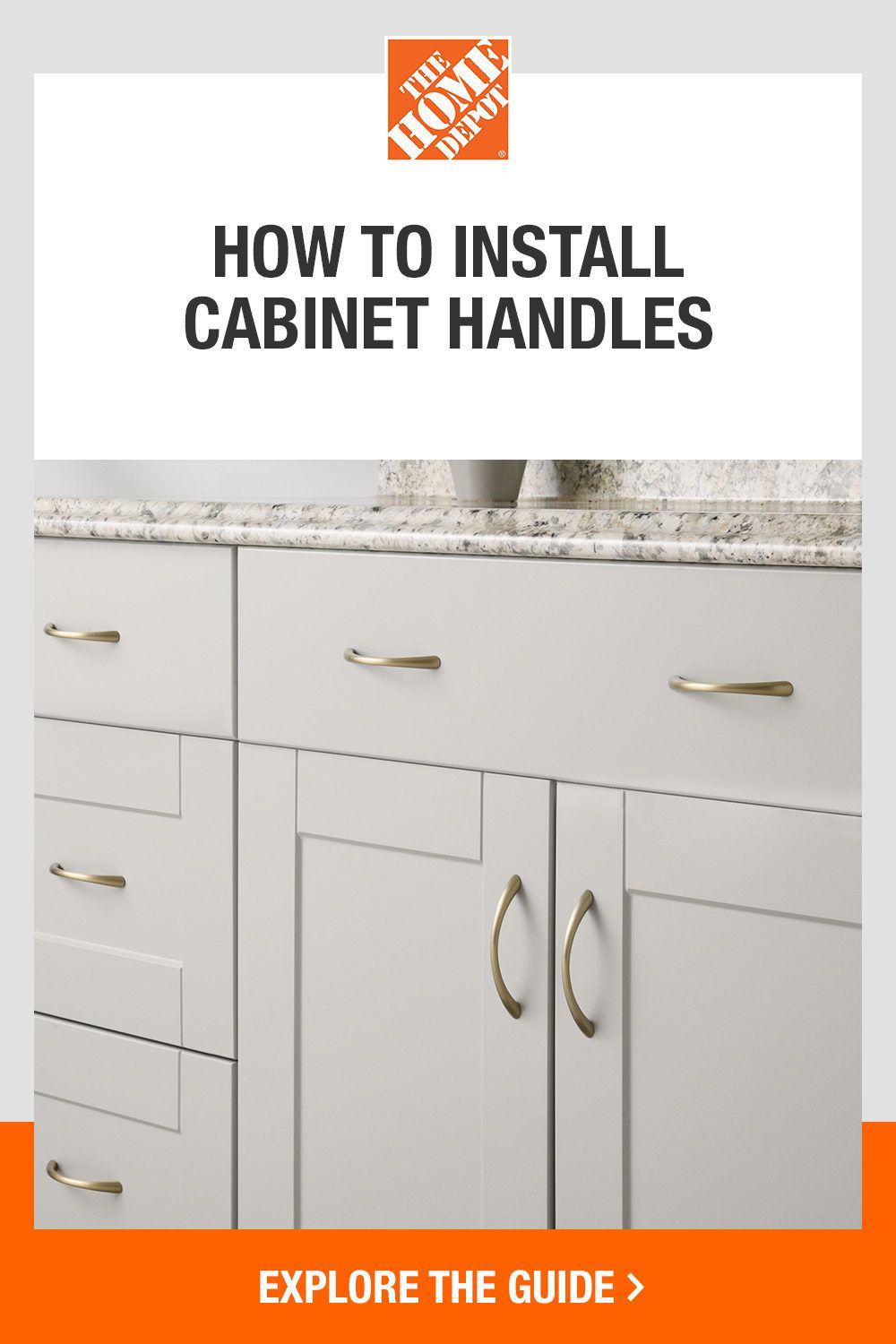 Give your cabinets a refresh with help from The Home Depot. Our DIY guide will show you step-by-step installation instructions, so you can easily transform your spaces with new hardware. Click to start your project with The Home Depot.