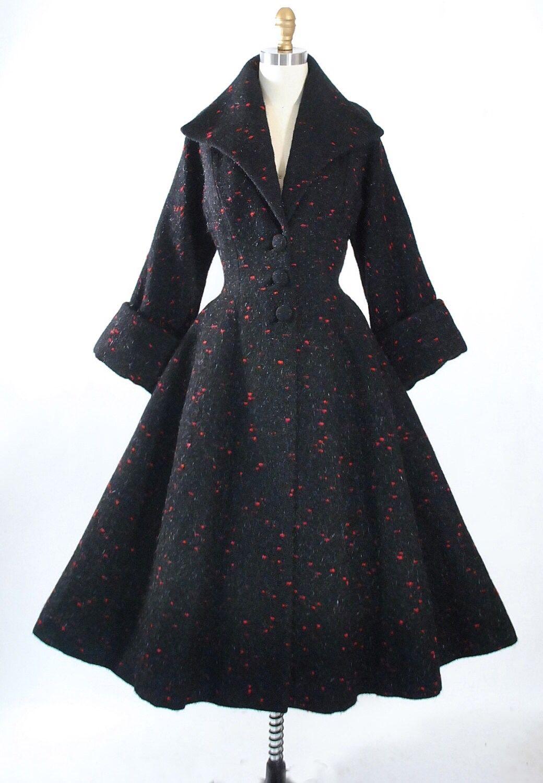 c73bc34fd17 Vintage 1950s Lilli Ann Princess Coat    www.geronimovintage.etsy ...