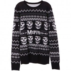 Misfits Skull Ugly Christmas Sweater from Rockabilia | ♥grunge & emo♥ |  Pinterest | Ugliest christmas sweaters, Winter and Clothes