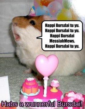 Habs a wunnerful Bursdai, MessiahMews