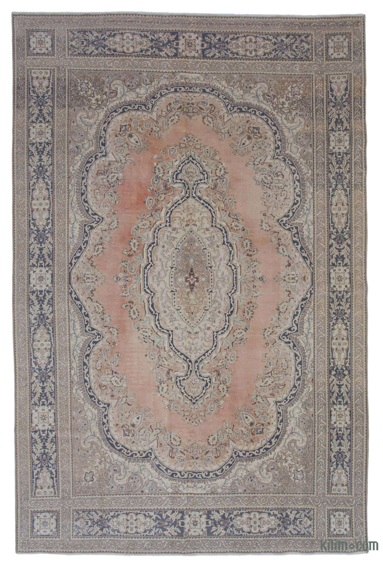 Vintage Hand Knotted Oriental Rug 7 10 X 12 94 In X 144 In