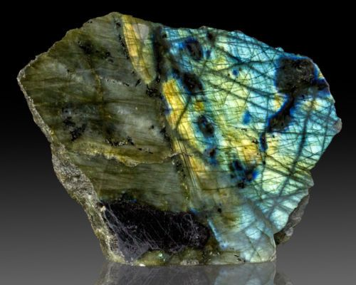 5-3-Flashing-Yellow-Red-Turquoise-LABRADORITE-Polished-Front-Madagscar-for-sale