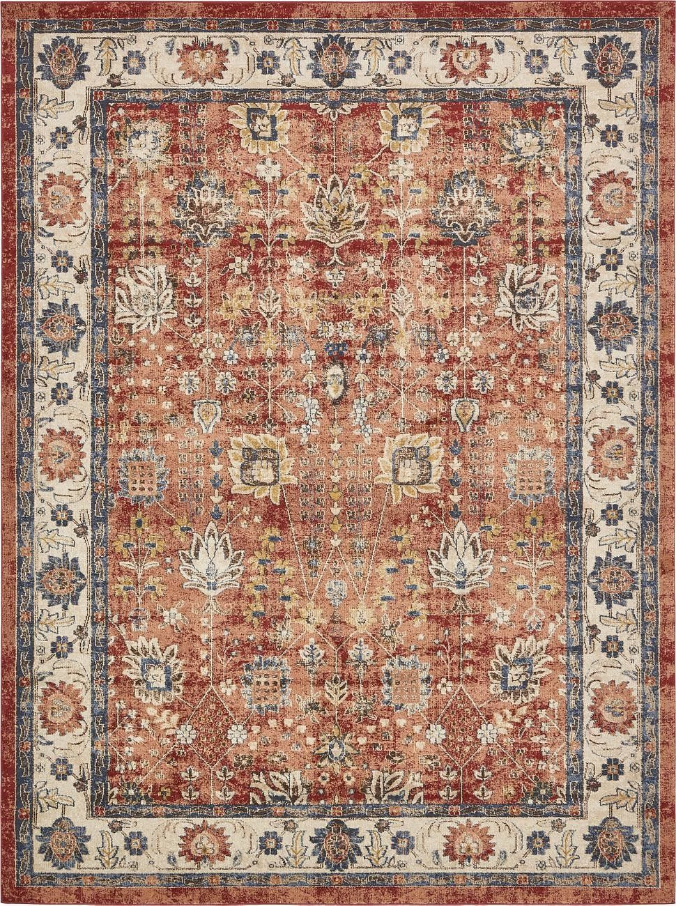 Serenity Terracotta Area Rug Products Pinterest