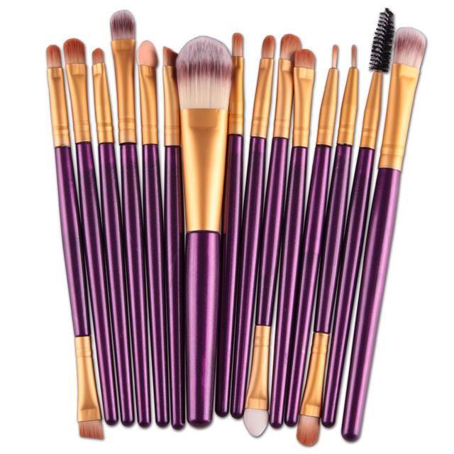 15Stk Make-up Pinsel – LilaB