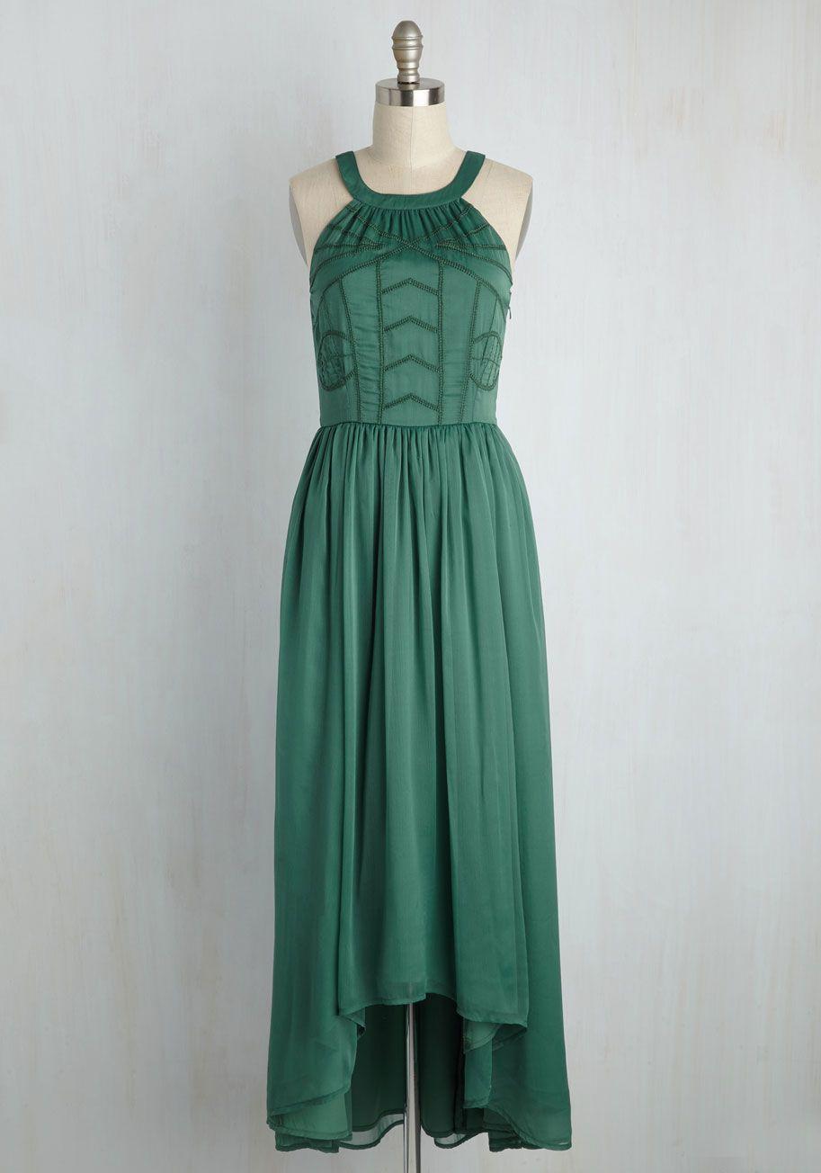 0d5493ba47 Brave New Whirl Maxi Dress in Fern. Ballroom dancing awaits
