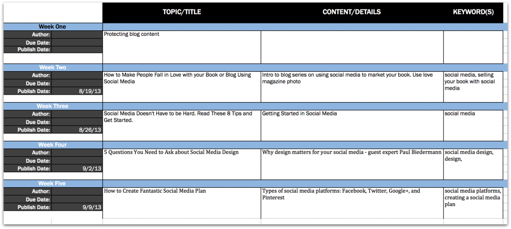 How To Get Organized With An Editorial Calendar  ItS Easier Than