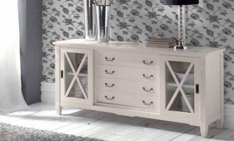 Mueble colonial blanco comedor | Aparadores in 2019 | Furniture ...