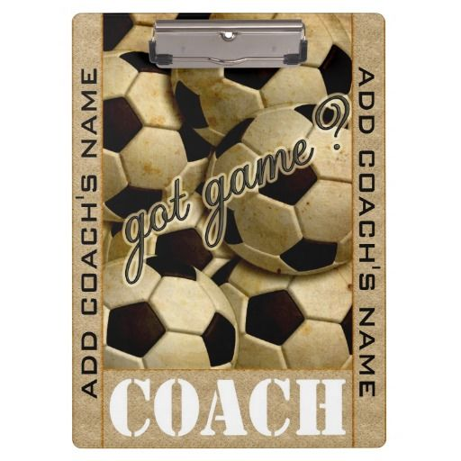 Got Game? Soccer Clipboards #personalizedgiftforcoach#organizerclipboard#soccer