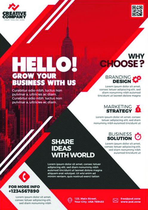 Psd Corporate Flyer Design Templates Psdfreebies Com Creative Flyers Flyer Design Templates Graphic Design Flyer