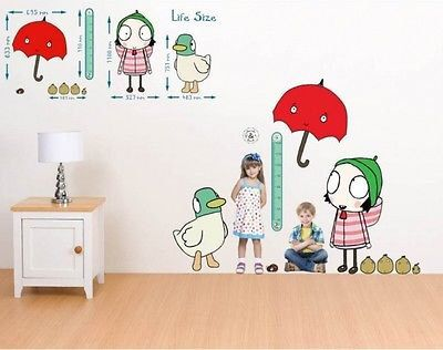 Sarah and Duck Height Chart by LegendswallartShop on Etsy https://www.etsy.com/listing/495598771/sarah-and-duck-height-chart
