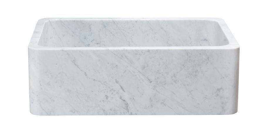 30 White Carrara Marble Farmhouse Sink Kitchen Sinks In
