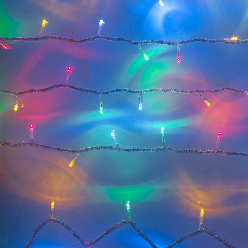 100 Multi Coloured LED Connectable Clear Cable Fairy Lights | Room ...