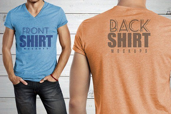 Download 6 Front Back Shirt Mockups Shirt Mockup Design Mockup Free Mockup Free Psd
