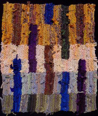 Floating Stripes Biltmore 1 Hand Knit Rag Rug Sold