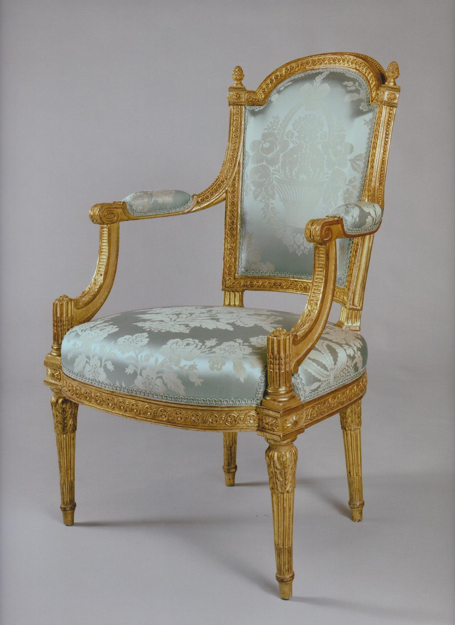 A set of Louis XVI chairs prising two chairs and two armchairs