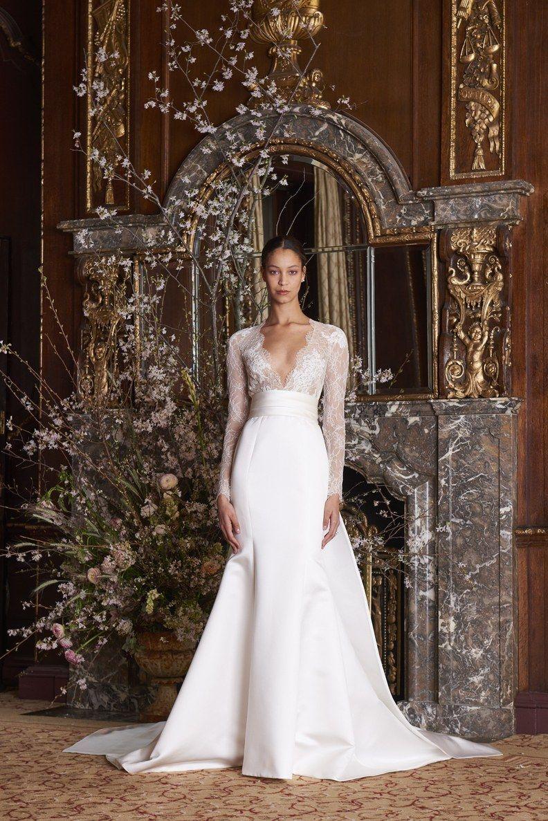 8b41d2fd8db2 Monique Lhuillier Bridal & Wedding Dress Collection Spring 2019 | Brides