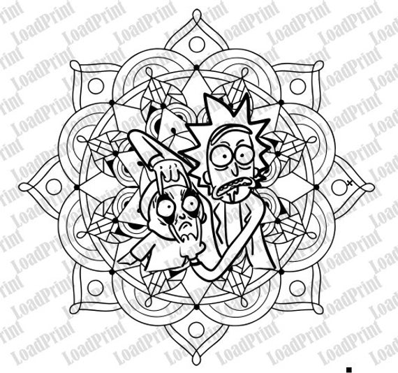 Pin By Crystal Hatch On Cricut Rick And Morty Tattoo Stencil Art Coloring Pages