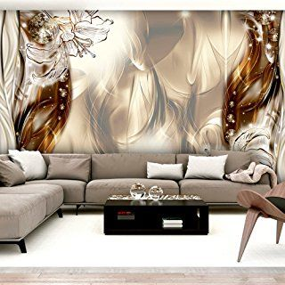 Murando Fototapete X Cm Vlies Tapete Moderne Wanddeko Design Tapete Abstrakt Blumen Lilien A C  A B