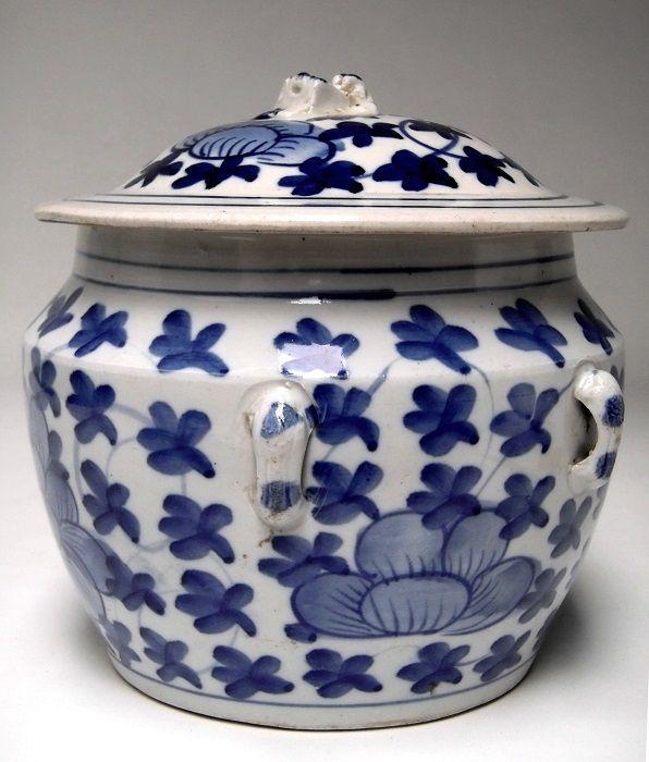 Kamcheng Peranakan Covered Jar Porcelain Chinese Ceramics Crockery White Porcelain