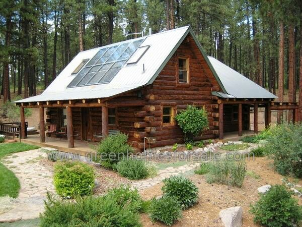 Off grid cabin cabin living pinterest cabin log for Self sufficient cabin kits