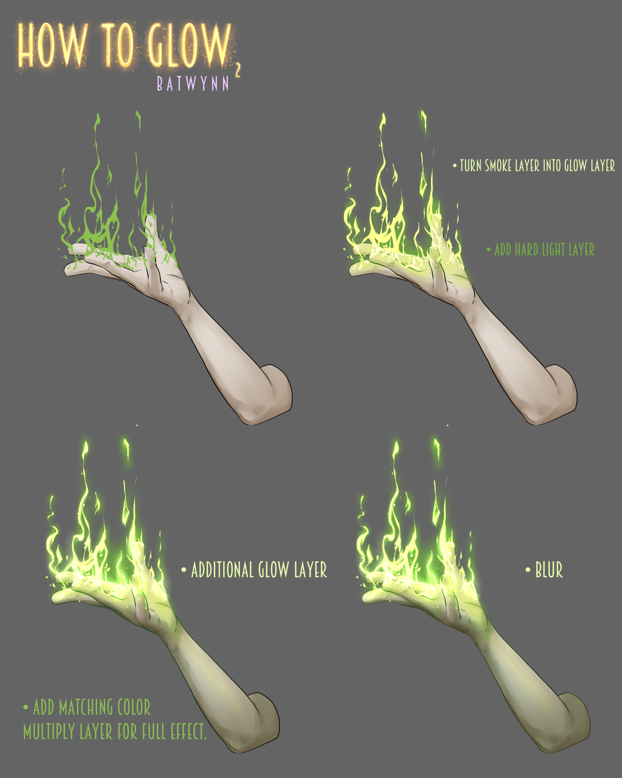 """batwynn: """" Someone asked how I do the glowy thing, soooo, here's some how to do the glowy thing in Manga Studio. :3 For more tutorials, please check out my Patreon to help keep me funded. """""""