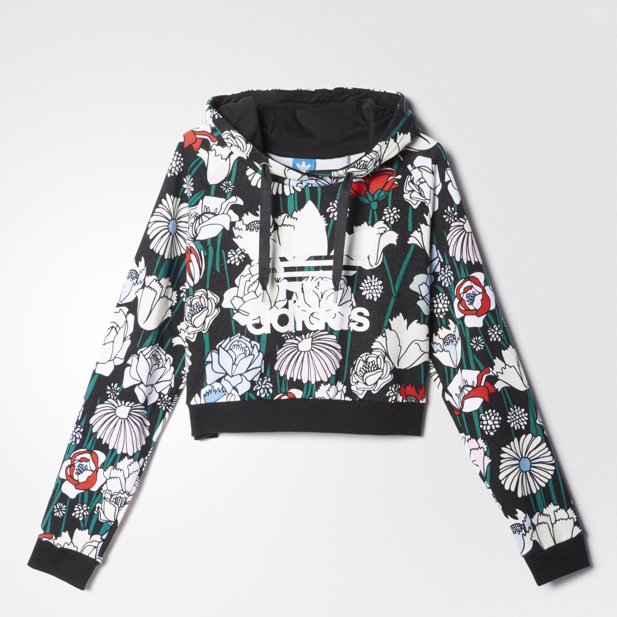 7d05e61d4a6 adidas - Blusa Capuz Cropped